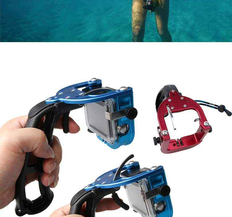 GoPro Accessories Swimming Diving Single Hand Selfie Stick Support Hand Shutter Trigger for Xiaomi Yi Go Pro Hero 5 Black SJcam