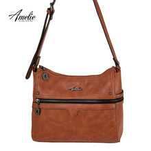 AmelieGalanti 2016 new casual bag Handbags shoulder bag High Quality Leather Shoulder Bags women bag leather solid(China (Mainland))