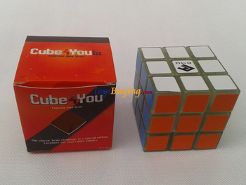 10pcs/lot Cube4U C4U 3x3 speed cube Green glow in dark Twist puzzle Educational toy Free Shipping