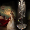 Modern Crystal Chandeliers Ceiling Lamps For Villa Penthouse Spiral Stainless Duplex Rotation AC110 240V K9 Crystal