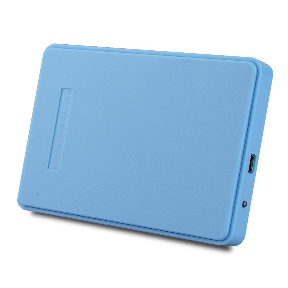 2.5 inch USB 2.0 HHD Enclosure External Caddy Case 2TB for SATA Interface 2.5 Inch Hard Disk Drives IDE Blue(China (Mainland))