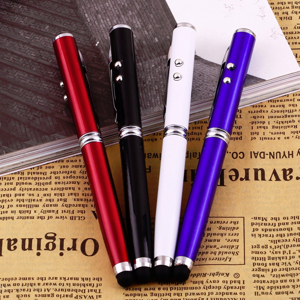 4 in 1 Laser Pointer LED Torch Touch Screen Stylus Ball Pen for iPhone for iPad