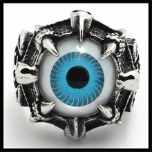 1 pc Ghost Skull Claw Eyeball 316L Stainless Steel Cool Fashion Claw Eyeball Ring(China (Mainland))
