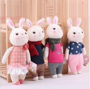 8 Tiramisu rabbits family pretty METOO rabbit doll stuffed toy gift girl birthday present Children partners toys + free shipping