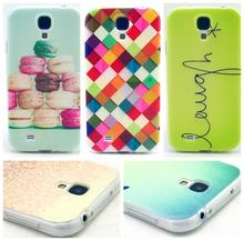 2015 New Super Thin TPU Fashion Pattern Soft Back Case Soft cover For Samsung GALAXY S4 i9500 i9505 GA022 With Clear Frame(China (Mainland))