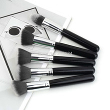10Pcs/set Professional Synthetic Kabuki Makeup Brushes Set beauty Cosmetics Foundation blending blush make-up tool