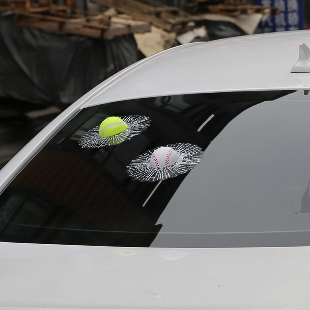 Car sticker design online malaysia - Car Styling 3d Car Sticker Football Basketball Tennis Baseball Hit The Glass For Chevrolt Cruze