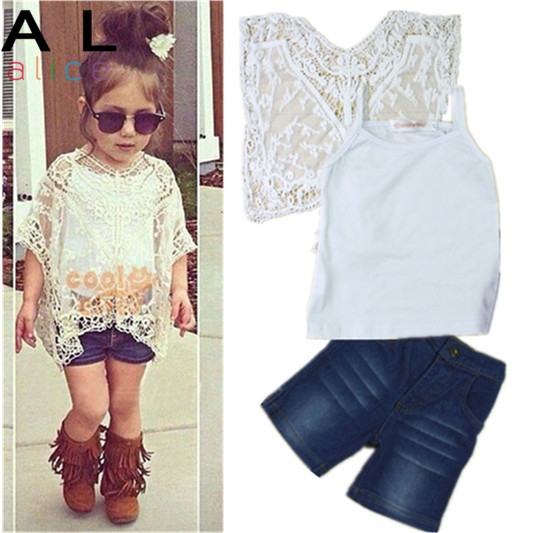 2015 Summer Autumn New Arrival Girls Fashion outfits clothing sets retail kids outfits 1 set kids