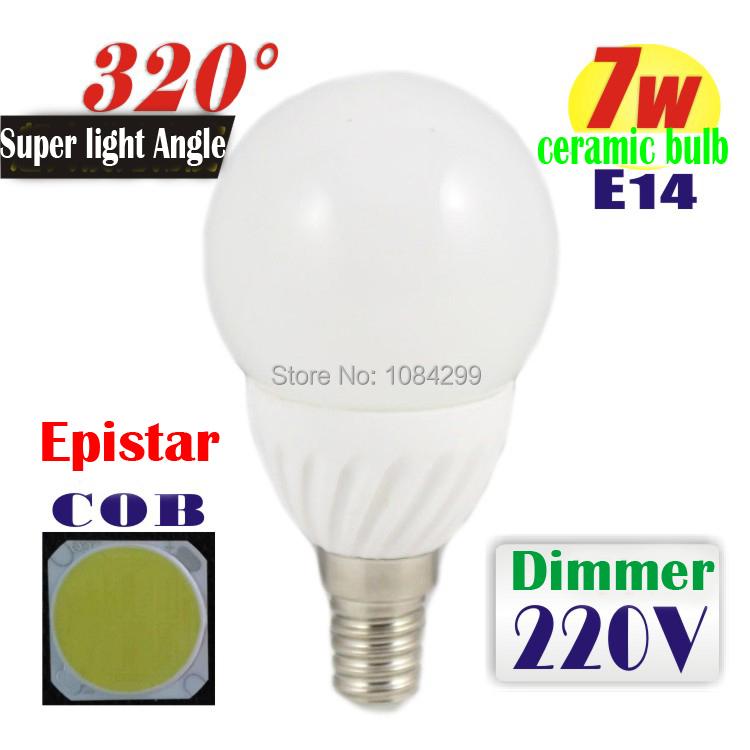 1pcs E27 Dimmer LED Bulb Lamp 3W 5W 7W 220V LED Light Ball Bulb Christmas Decoration Floor Lamps Indoor Chandelier Spotlight(China (Mainland))
