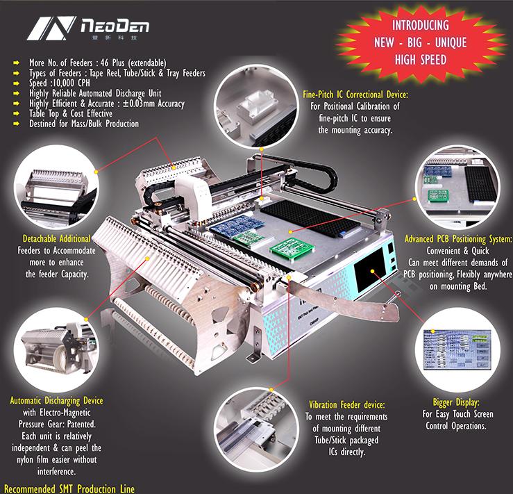 Multifunction SMT Machine Pick and Place Machine TM245P(Advanced),NeoDen Technology(China (Mainland))