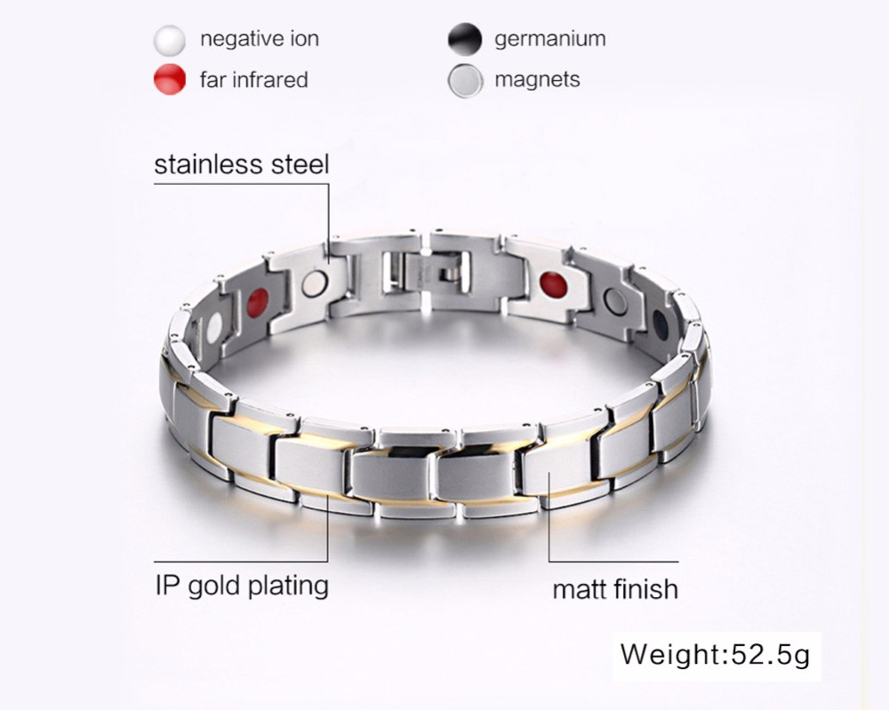 Mens magnetic bracelet 110