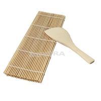 Новый он деликатный суши прокатки чайник diy бамбука прокатки мат с одним рисом весло суши инструментом eh