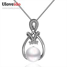 2016 Women's Fashion Pendants Bijoux Suspension Beautiful Simulated pearl pendants for Girl Friend Best Gift Lover's Gift P028(China (Mainland))