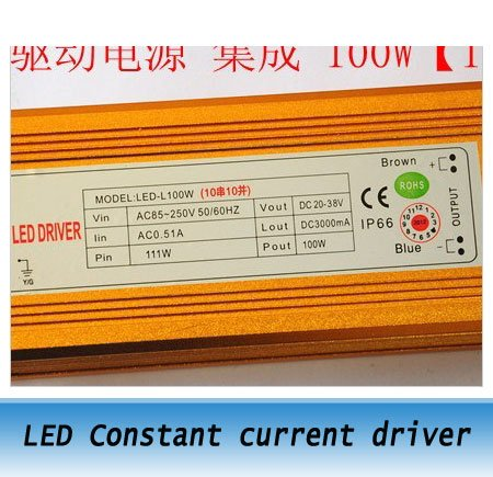 100W LED constant current driver power supply / high power LED drive power