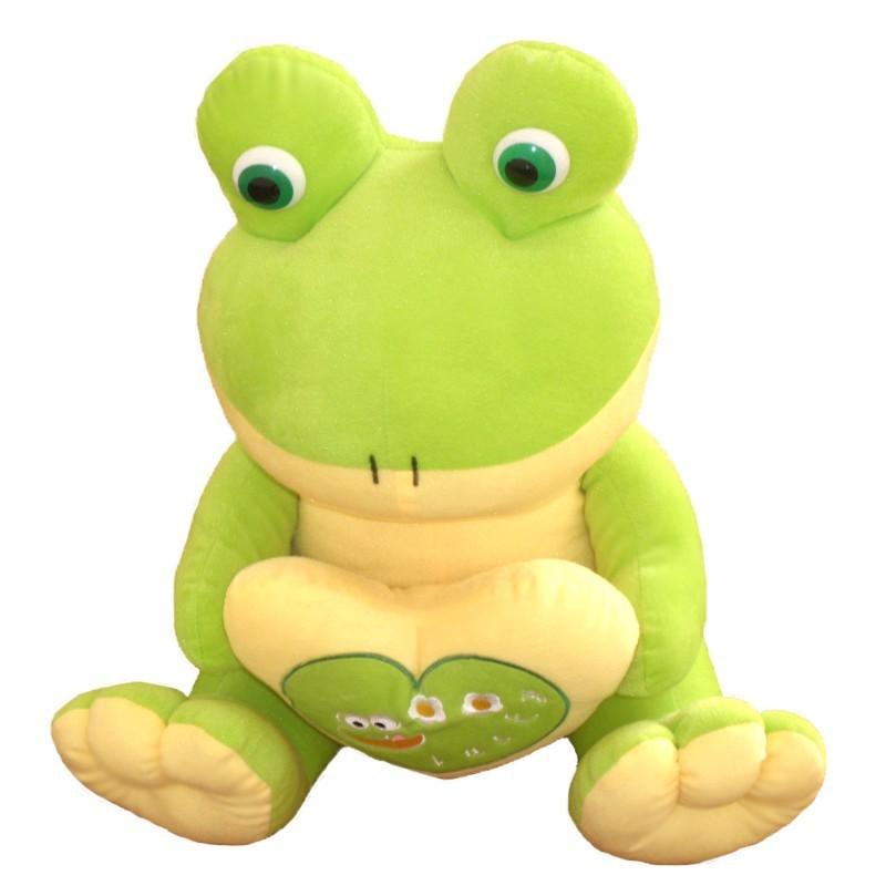 stuffed animal light green frog 22cm plush toy soft doll toy f9095(China (Mainland))