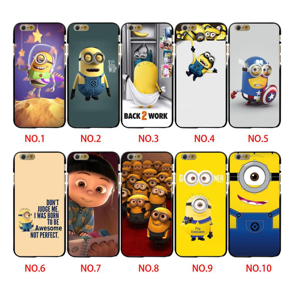 "New Fashion Despicable Me Yellow Minion Cartoon Mobile Phone Cases Cover For iphone 5 5s 6 4.7""Cute Despicable Me Minion Case(China (Mainland))"