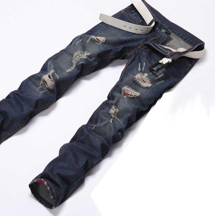 men jeans straight disel brand designer denim pants men trousers ripped jeans for men(China (Mainland))
