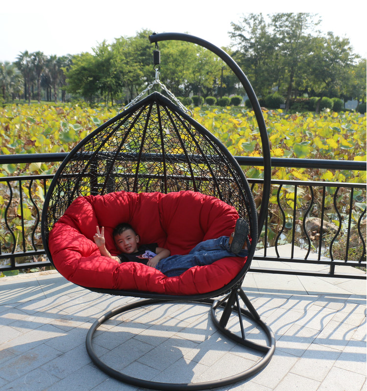 Double indoor swing chair hanging basket rattan wicker dormitory balcony chairs(China (Mainland))