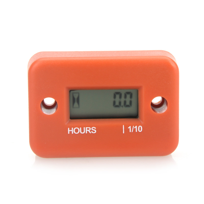 Digital Hour Meter Gauge LCD for Gasoline Engine Racing Motorcycle ATV Mower Snowmobile 0.1/99999Hrs 5 Color(China (Mainland))