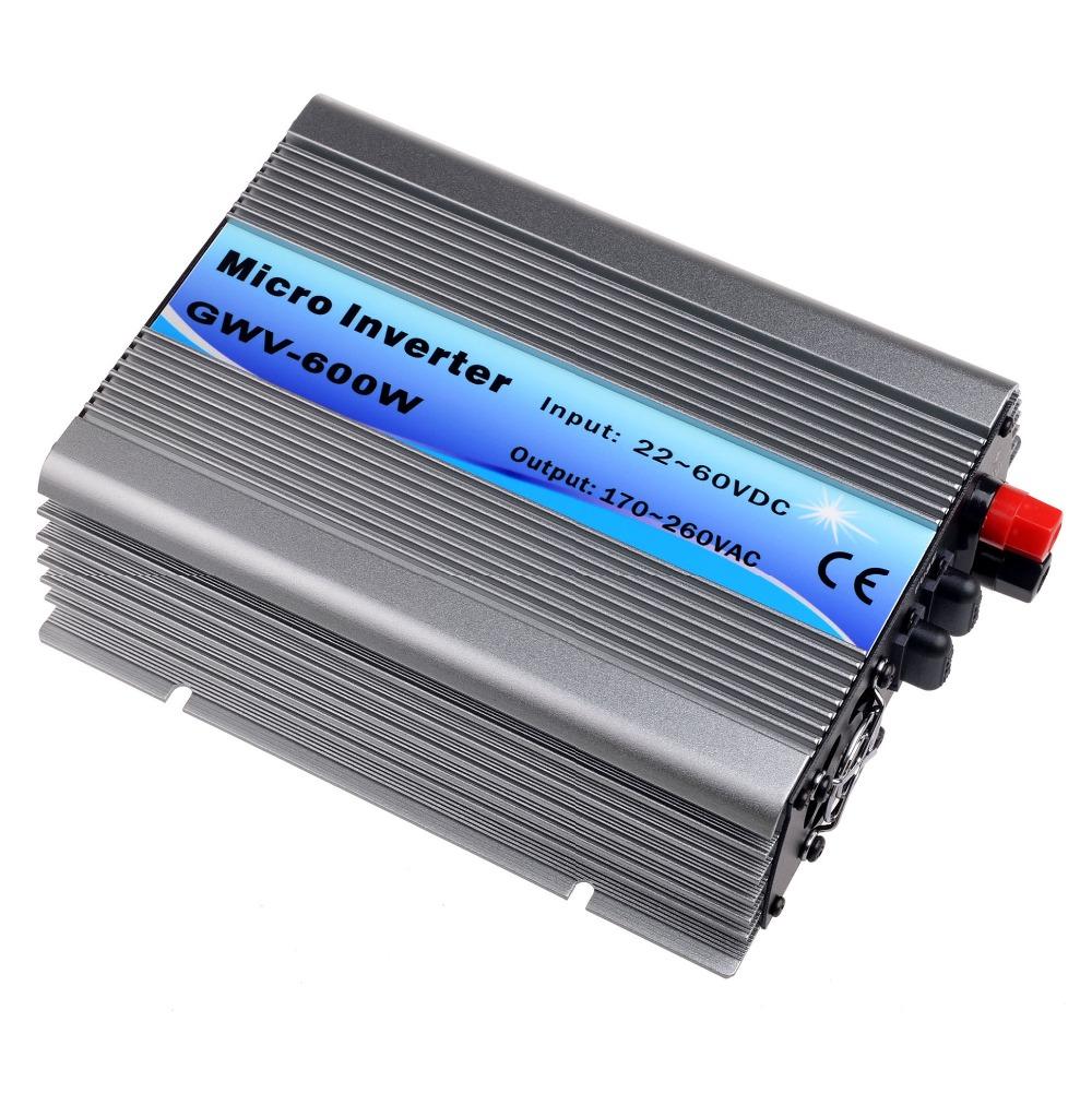 600W Grid Tie Inverter DC22V-60V to AC230V(190-260VAC) Pure Sine Wave Inverter 600W 50Hz/60Hz(Auto Control) CE DC to AC Inverter(China (Mainland))