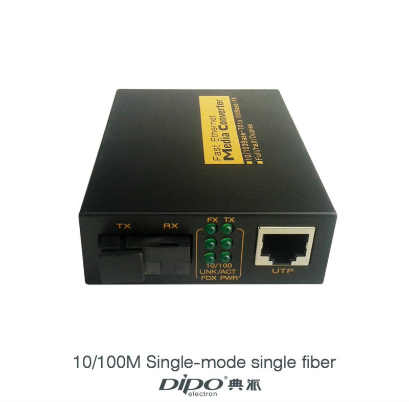10/100M Single-mode single fiber Fiber Media Converter  Fiber Optical Transceiver 2pcs/lot<br><br>Aliexpress