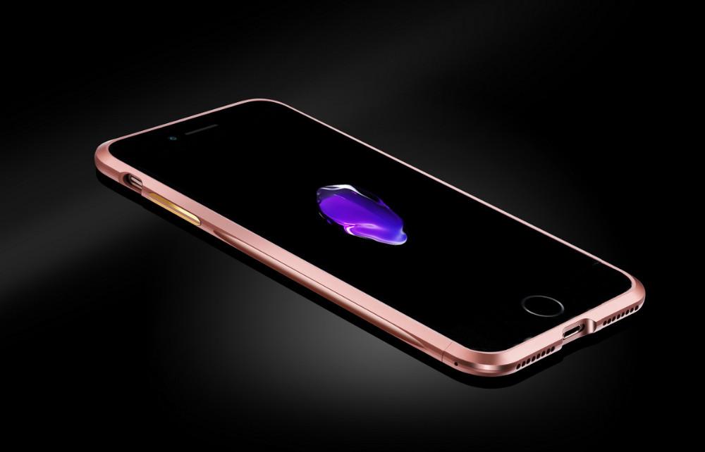 Aluminum Case For IPhone 7 / 7 Plus Luxury Metal Frame + Carbon Fiber Sticker Cover Case for IPhone 7 / 7Plus