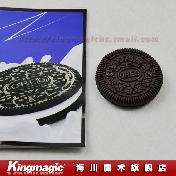 Free shipping Restored CYRIL-OREO Bite Cookie OREO Bite out Cookie Surprise Close-Up Magic trick magic toys(China (Mainland))