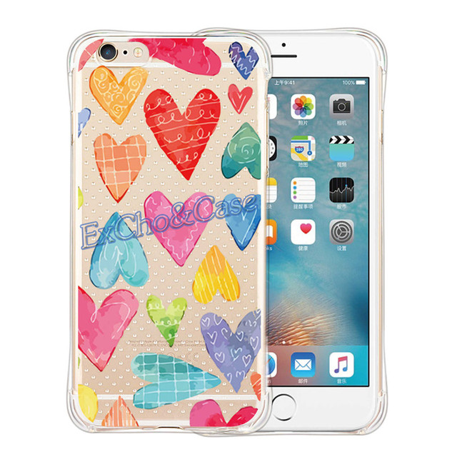 Case iPhone 5/5S/6/6S/6Plus/6SPlus  Cartoon Heart różne kolory