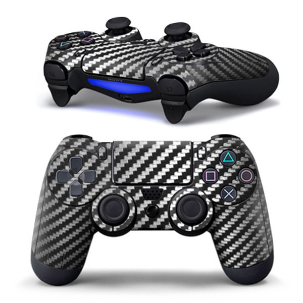 Hot Black Carbon Fiber Sticker Decal Skin Case For Sony for PS4 Playstation 4 Dualshock Controller PVC<br><br>Aliexpress