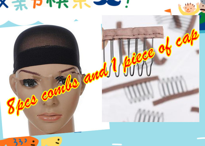 epacket Freeshipping :8pcs combs and 1 piece of wig cap hairnet (China (Mainland))