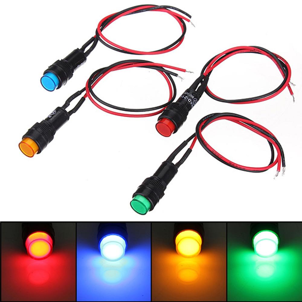 12V 14mm LED Dash Pilot Panel Indicator Warning Light Lamp For Car / Boat / Lorry / Truck(China (Mainland))