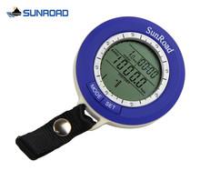 Sunroad SR204 новый мини открытый рыбалка барометр карманный из светодиодов цифровой водонепроницаемый высотомер термометр восхождение военные часы