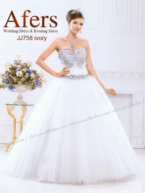 Afers all hands beading wedding dress No.JJ758