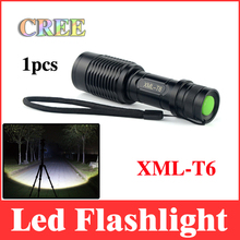 cree led flashlight XML-T6 zoomable 2000 lumens flashlights light torch use to climb,tactical,bicycle without 18650 battery LT01(China (Mainland))