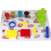 Hot sale New Creative Choi mud mud waffle mold plastic Set DIY Educational Toys children TH21