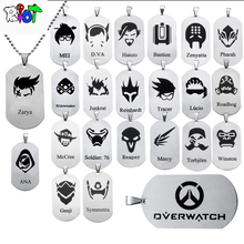 Buy 23 types OW Overwatch Pendant Necklace dog tag heroes logo tracer reaper widowmaker Hanzo bead chain choker Necklace jewelry for $1.57 in AliExpress store