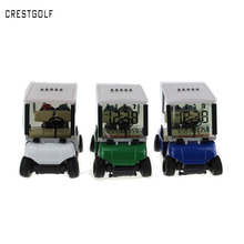 Mini Golf Cart Alarm Clock LCD Digital Date Display perfect gift desk decoration with 3 colors available(China (Mainland))
