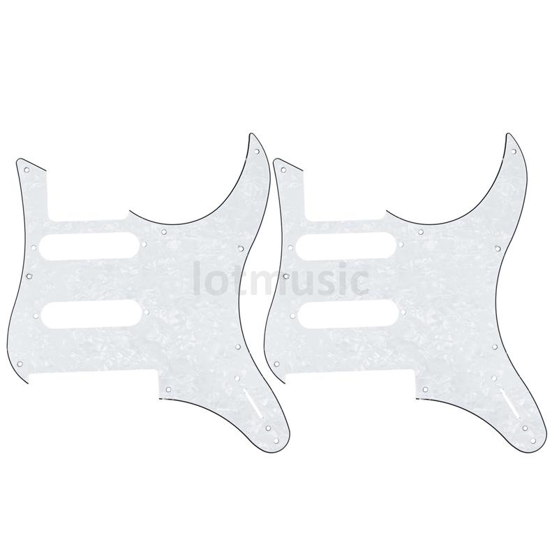 2 pcs Electric Guitar Pickguard For YAMAHA Pacifica 112V replacement 3ply White Pearl(China (Mainland))