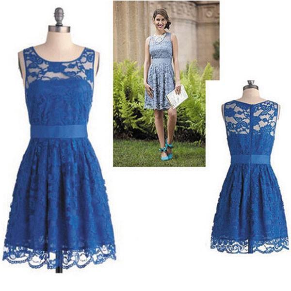 Blue Lace Dresses For Juniors Photo Album - Reikian