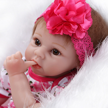 New commodity silicone reborn baby dolls toy girls kids brinquedos Christmas birthday gift newborn girl babies princess dolls