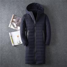 Chaqueta de plumón para hombre informal de negocios de color sólido gruesa capa de plumón de pato blanco llena de gran tamaño de invierno para hombre ropa(China)