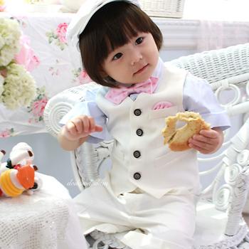 boy blazer 2014 spring new Flower boy vest/ formal suit/ boy's costume/male child suit(China (Mainland))