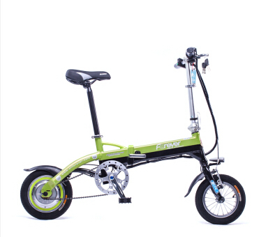 12 Mini Electric bicycle foldable bike with 36V Lithium Ion battery pedal assist smart leisure ebike
