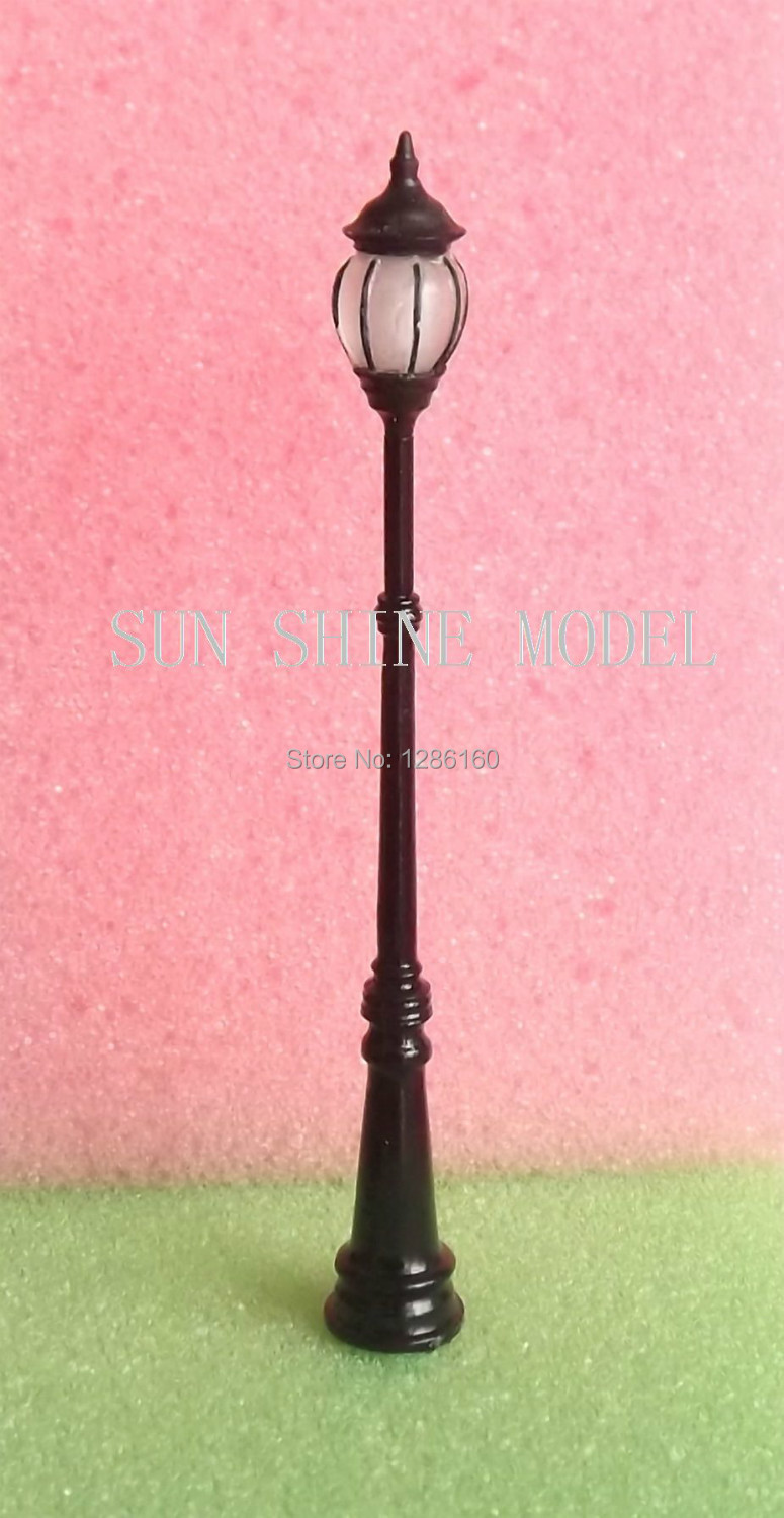 SL8 4pcs SCALE MODEL RAILWAY STREET LEDS LAMPPOSTS/LIGHTS HO NEW(China (Mainland))