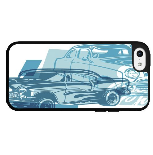Classic Blue Muscle Cars Hard Snap on Phone Case for iPhone 4 4S, 5 5S 5C ,6 G 6plus 4.7 5.5 inch(China (Mainland))