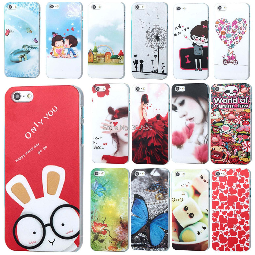 Free Shipping New Fashion Simple Painted Pattern Phone Case For Apple IPhone 4 4S WHD160 1-17(China (Mainland))
