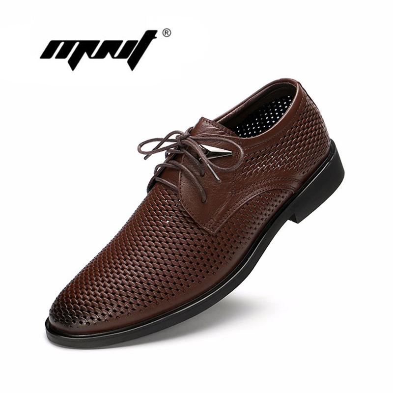 Full grain leather men shoes handmade plus size flats shoes fashion oxford business shoes mesh wedding dress shoes(China (Mainland))