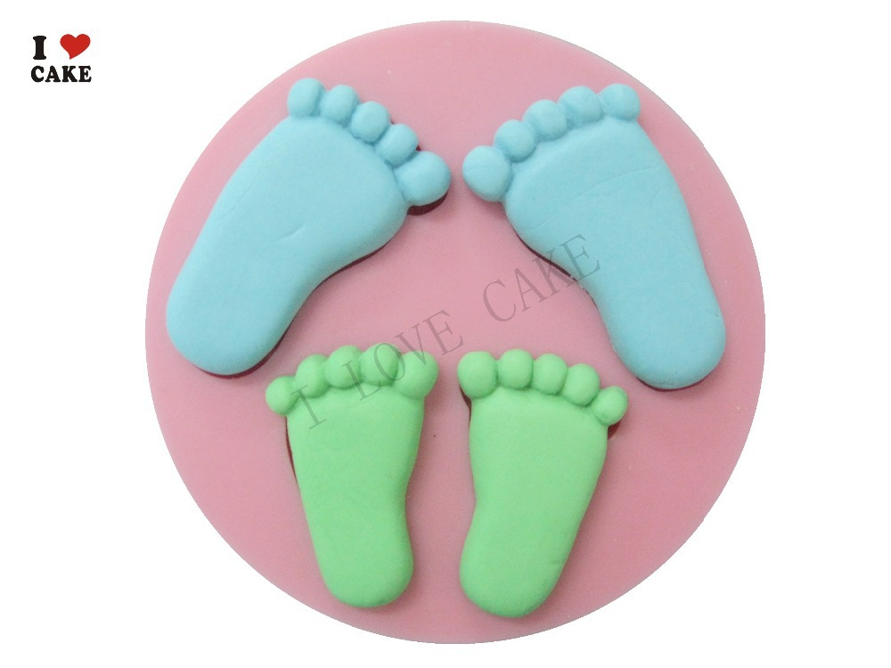 Free Shipping Baby Feet 3D Silicone Mold Cake Decoration ...