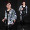 S 5XL 2016 Fashion Bars nightclubs male singer sequins suit Men stage costumes suit coat of