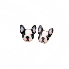 New Fashion Vintage Animal French Bulldog Earrings for Women Cute Gold Puppy Dog Stud Earrings Retro Party Earrings 2016(China (Mainland))